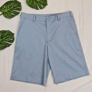Nike Golf Dri-Fit Light Blue Shorts, Size 32